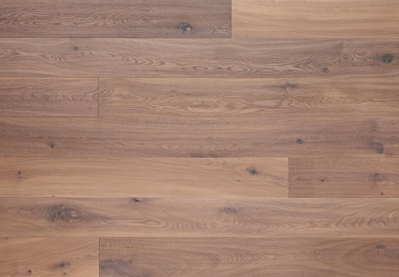 Massivholzdiele Wildeiche wellengehobelt angeräuchert weiß geölt - 90105