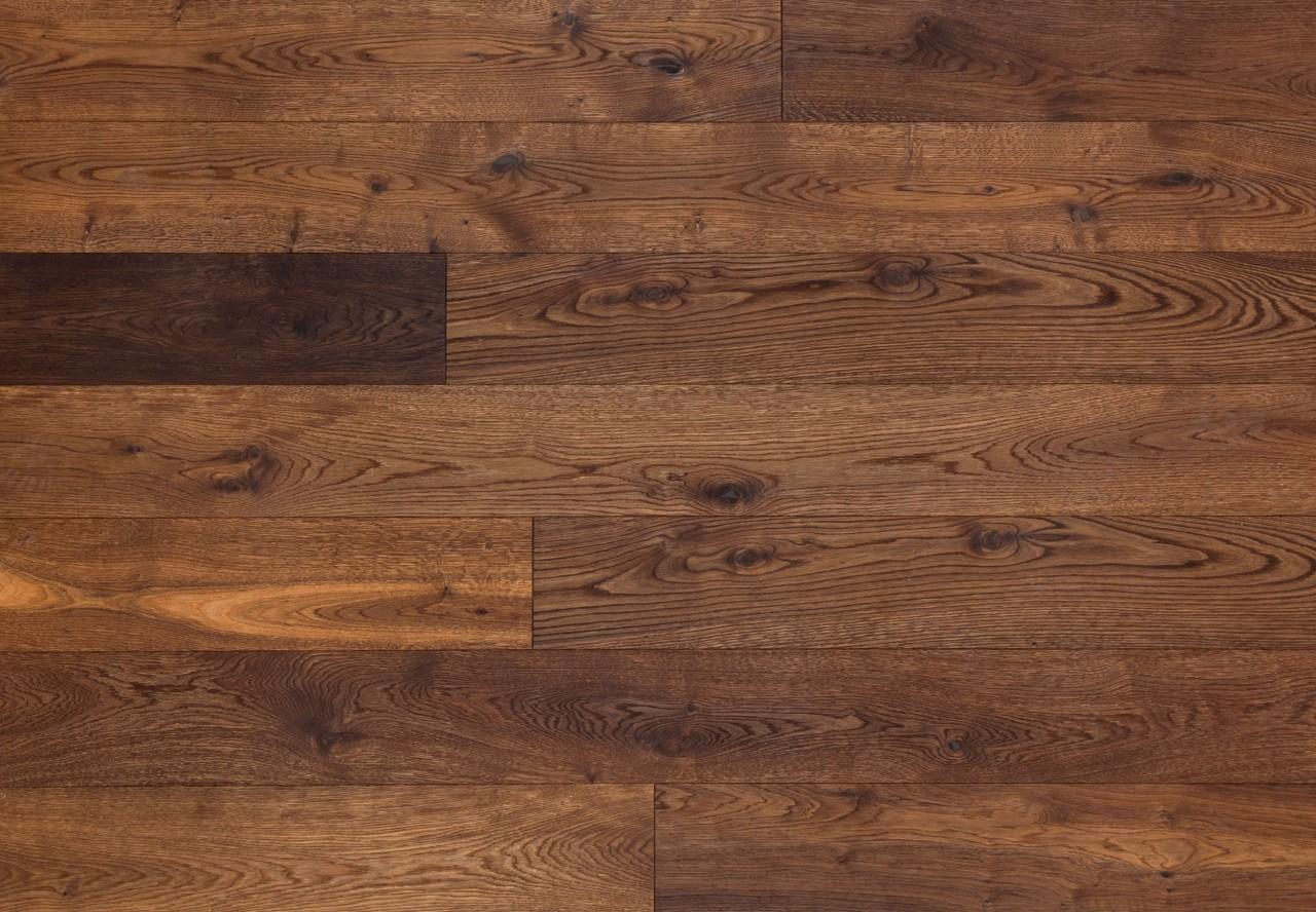Gutsboden Wildeiche gebürstet dunkel geräuchert geölt - 99038