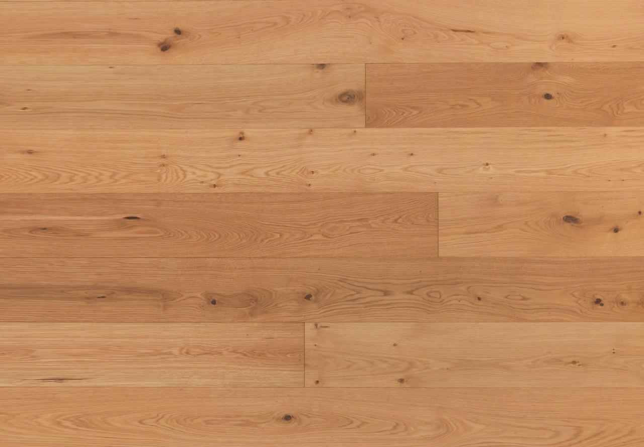 Massivholzdiele Asteiche gebürstet leicht weiß pigmentiert geölt - 90034