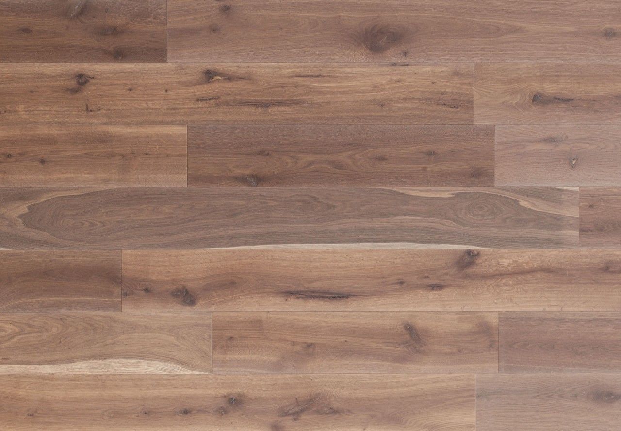 Gutsboden Wildeiche gebürstet angeräuchert weiß geölt - 99014