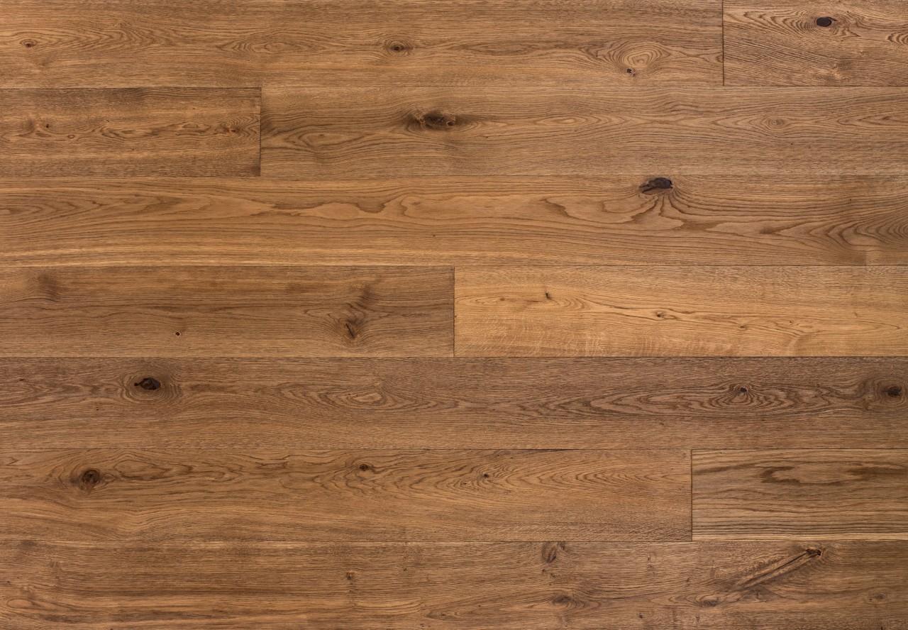 Gutsboden Wildeiche wellengehobelt tiefgebürstet geräuchert gelaugt leicht weiß geölt - 99144