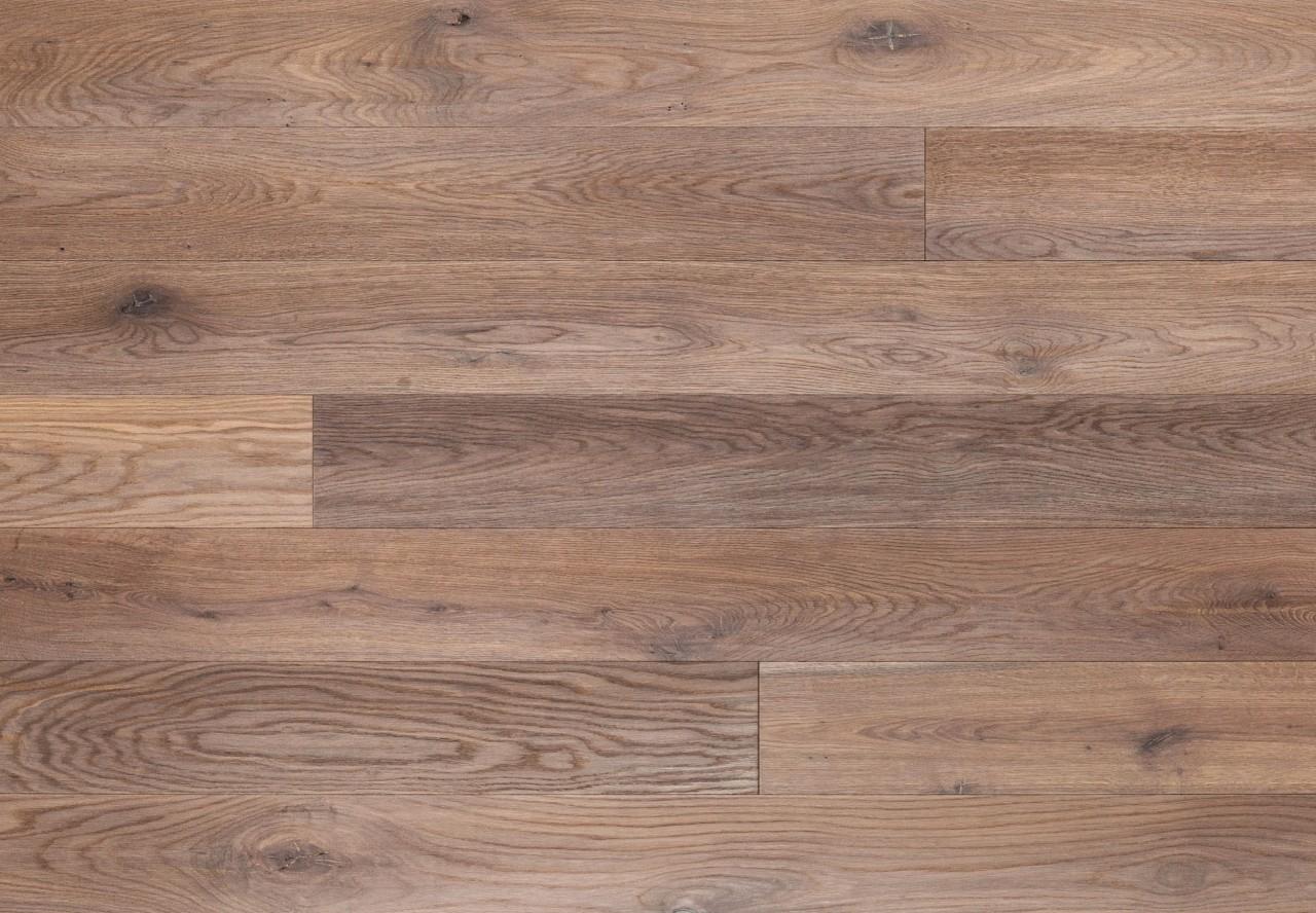 Massivholzdiele Wildeiche handgehobelt angeräuchert weiß geölt - 90066