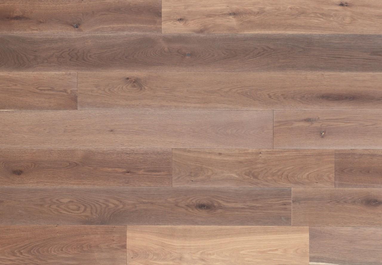 Gutsboden Asteiche gebürstet angeräuchert weiß geölt - 99027