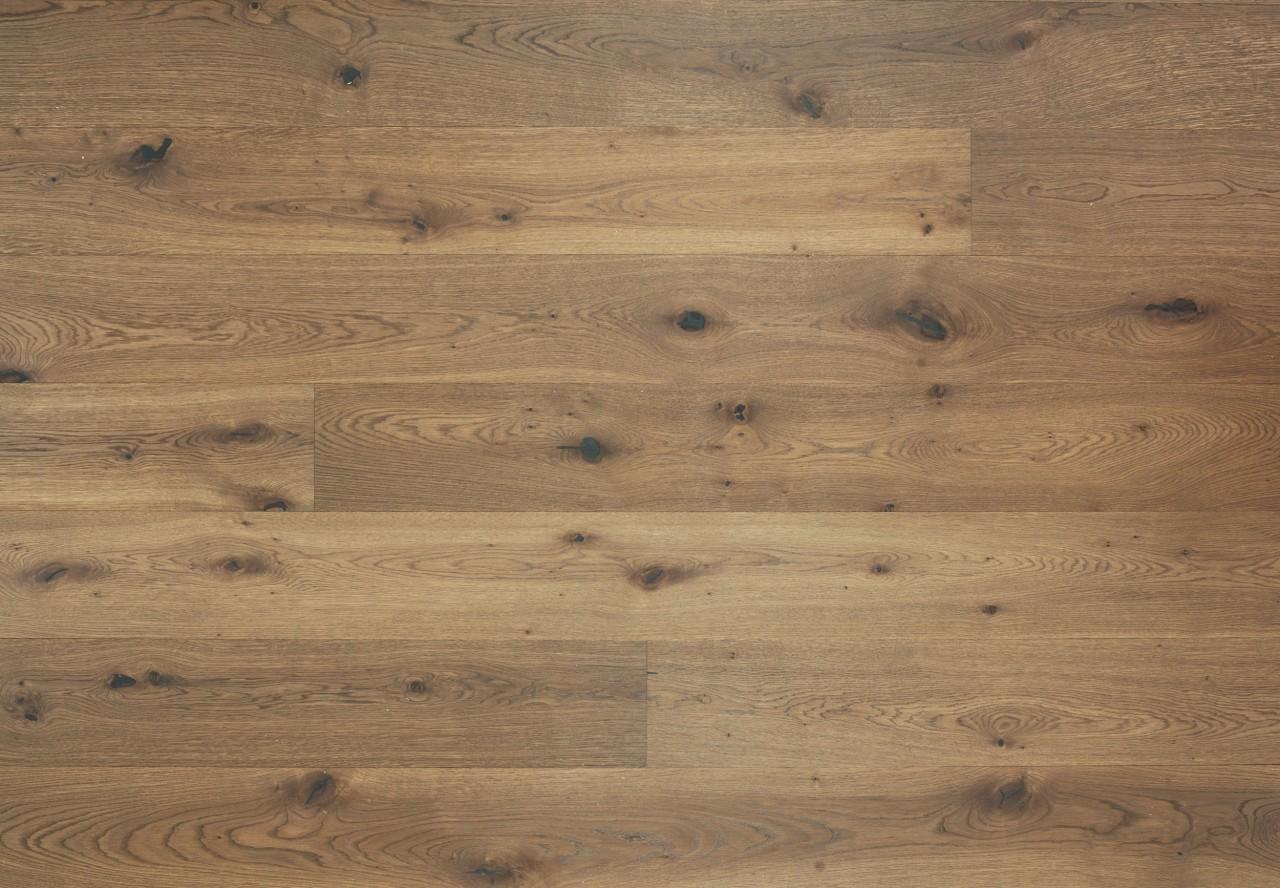 Landhausdiele Wildeiche gebürstet angeräuchert titanblau geölt - 33725
