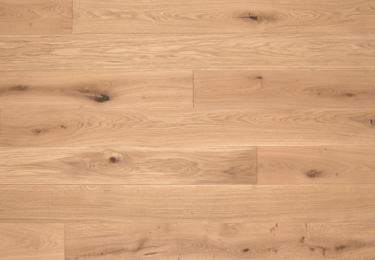 Gutsboden Wildeiche gebürstet gelaugt mittel weiß geölt - 99030