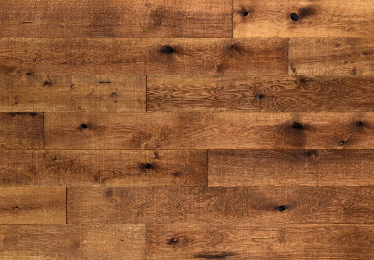 Massivholzdiele Wildeiche gesägt angeräuchert geölt - 90108