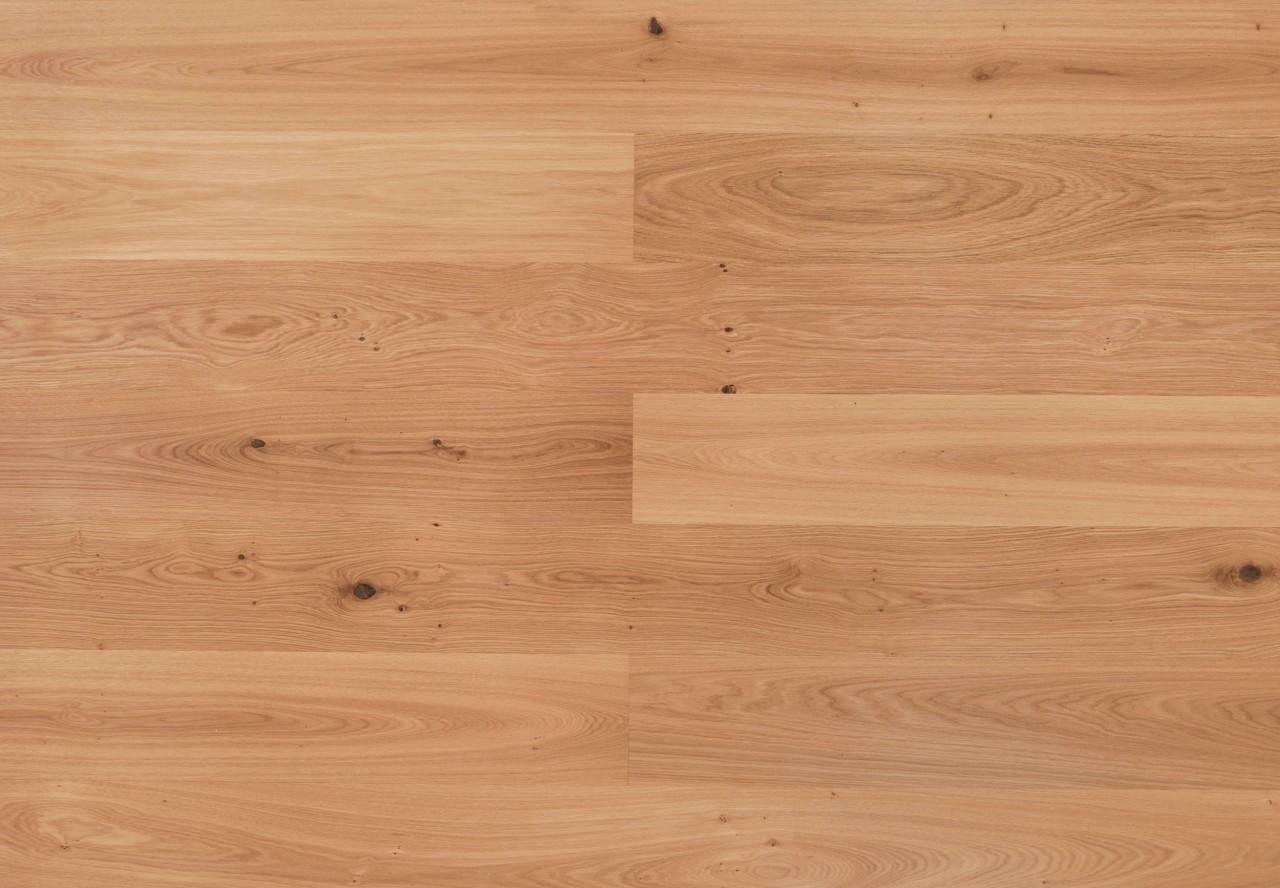 Landhausdiele Asteiche gebürstet leicht weiß pigmentiert geölt - 33154
