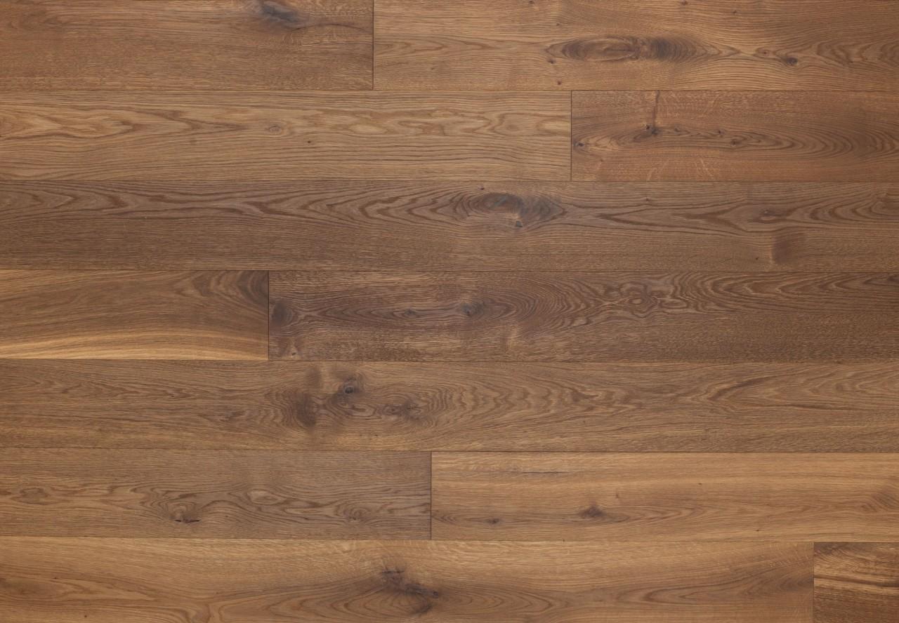 Massivholzdiele Wildeiche gebürstet angeräuchert leicht weiß geölt - 90025