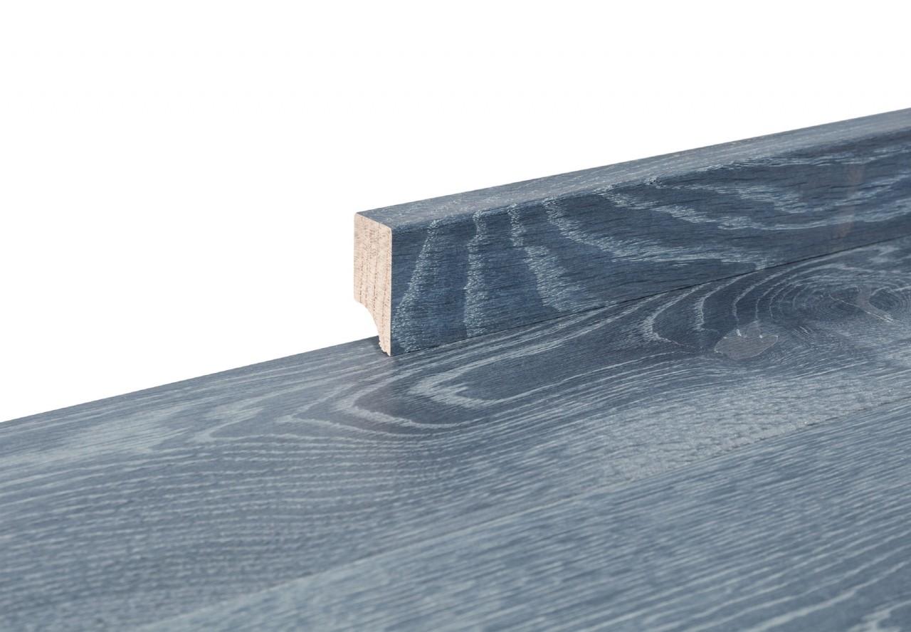 Sockelleiste massiv Typ2 Eiche graphitgrau gelaugt gekalkt geölt - 90835