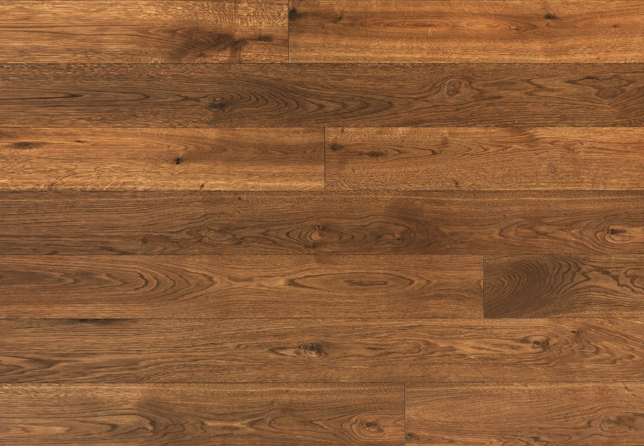 Massivholzdiele Asteiche gebürstet angeräuchert geölt - 90026