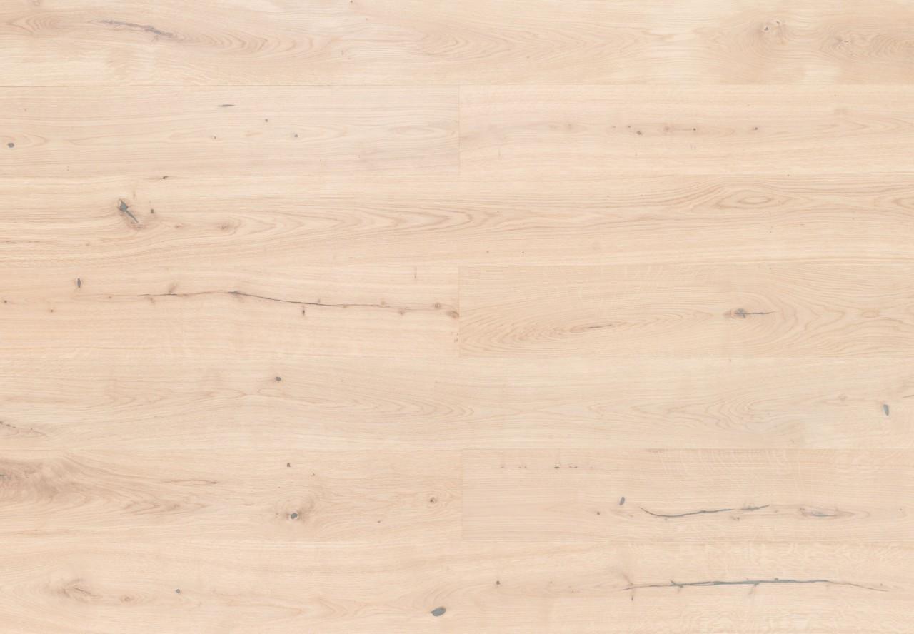Landhausdiele Kerneiche gebürstet extra weiß geölt - 33064