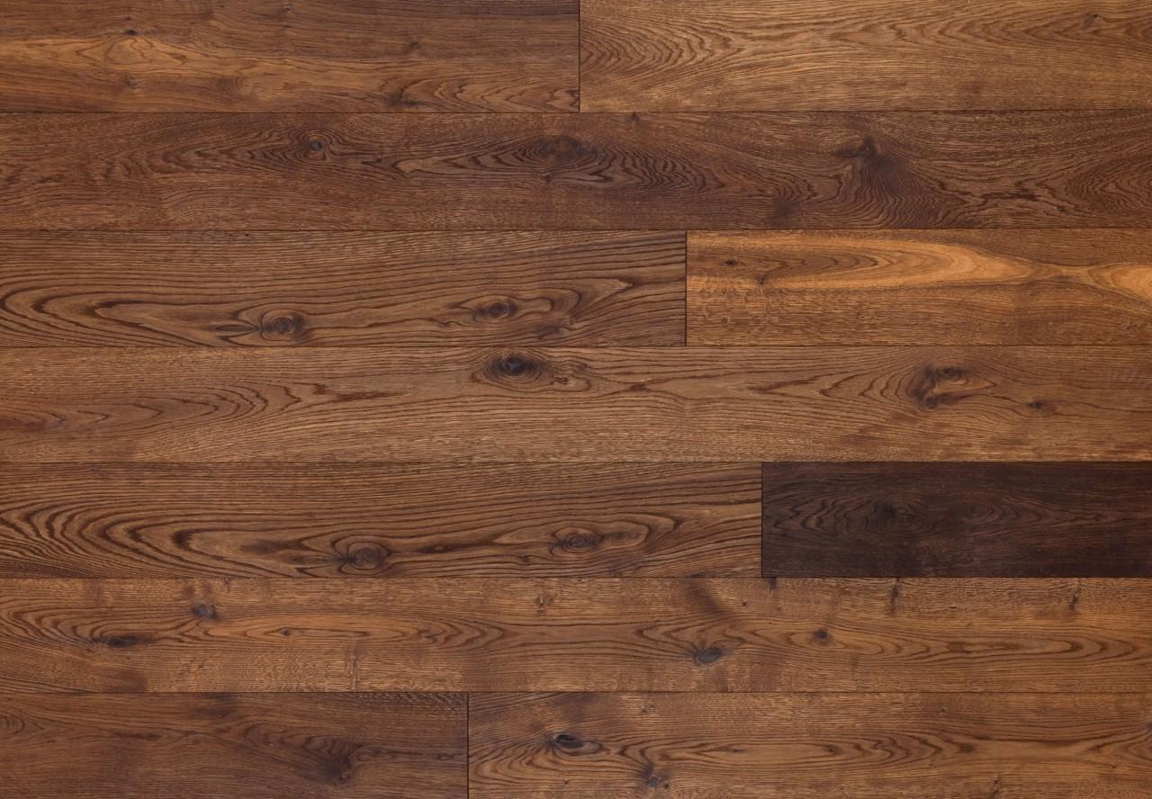 Massivholzdiele Wildeiche gebürstet dunkel geräuchert geölt - 90038