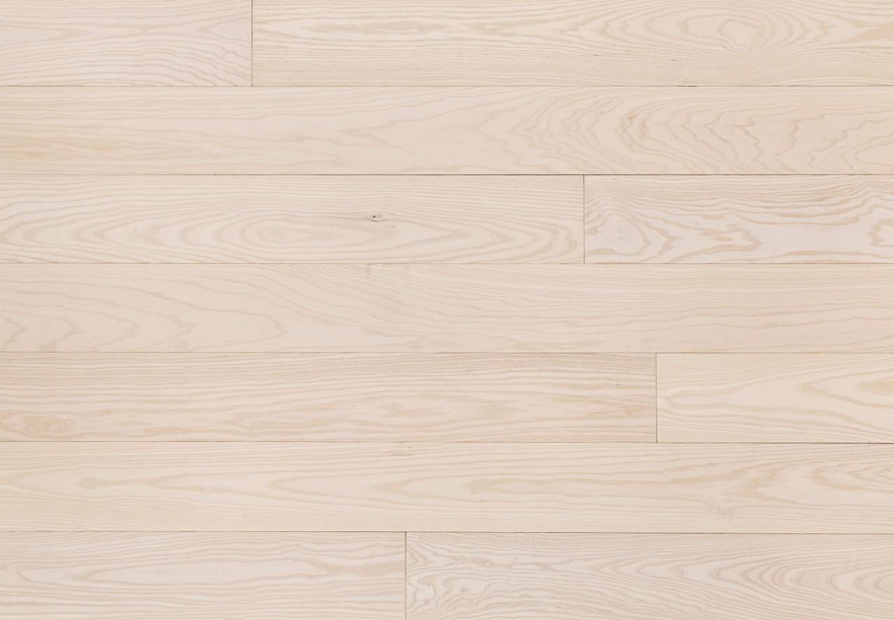 Massivholzdiele Naturesche gebürstet extra weiß geölt - 90005