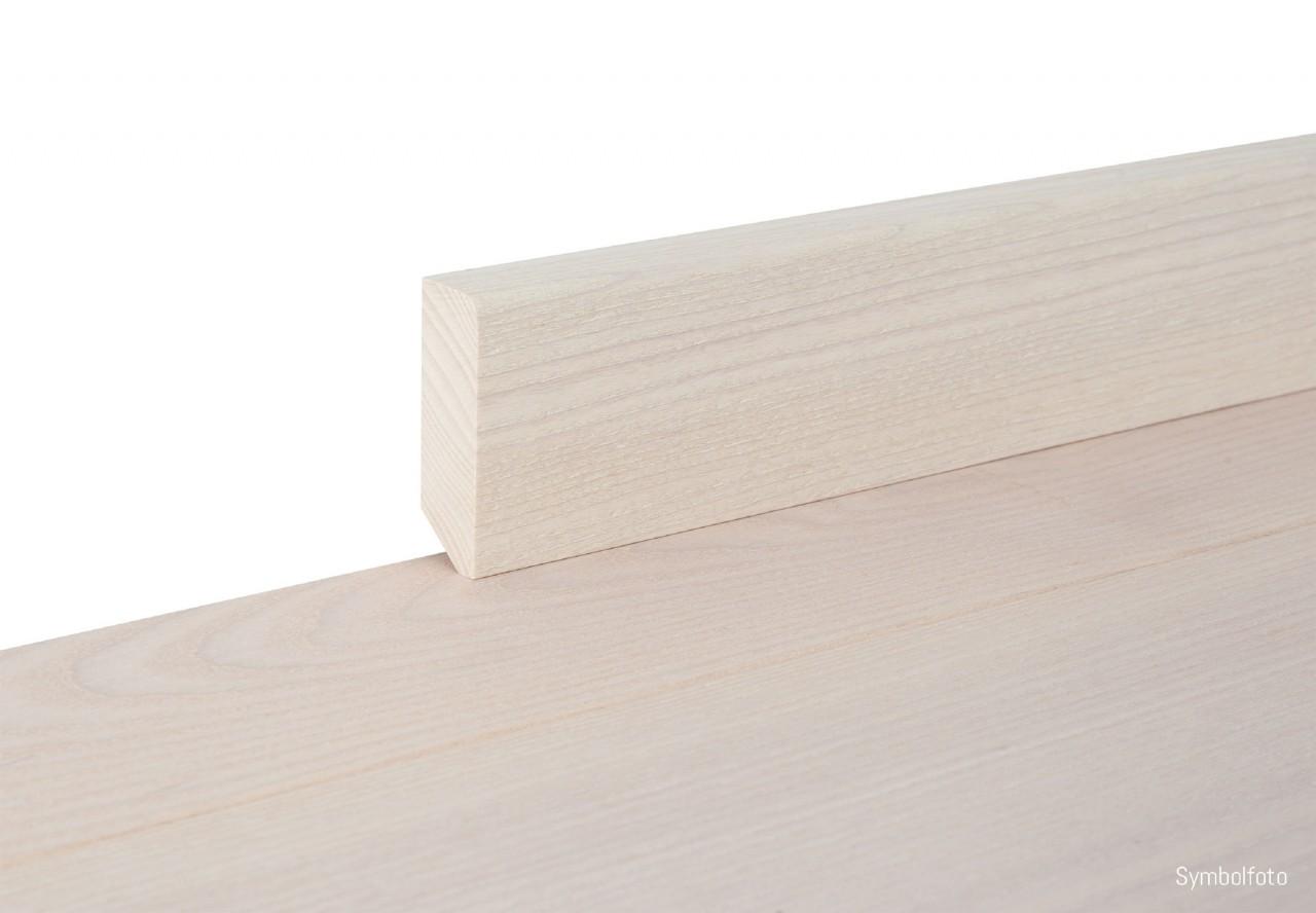 Sockelleiste massiv Typ1 Esche extra weiß geölt - 90717