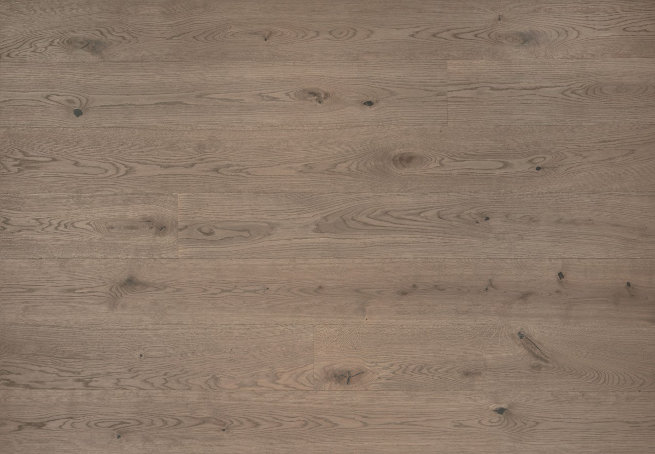 Landhausdiele Wildeiche gebürstet mittel grau geölt - 33661