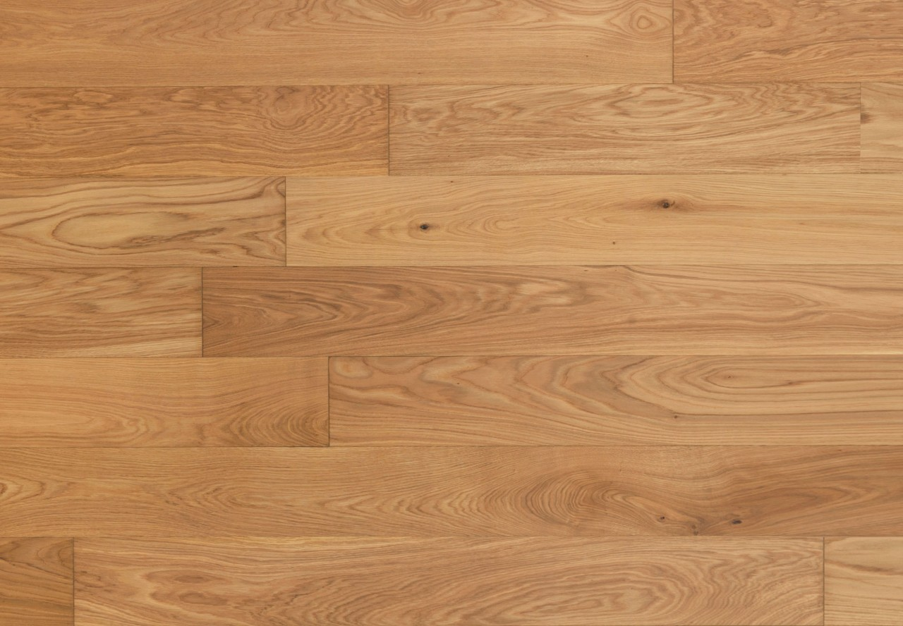 Gutsboden Natureiche gebürstet leicht weiß pigmentiert geölt - 99037