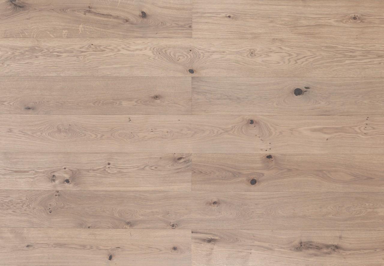 Landhausdiele Wildeiche gebürstet leicht grau geölt - 33660
